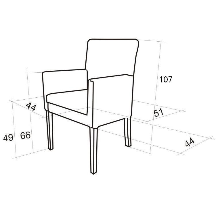wymiary fotelika 107