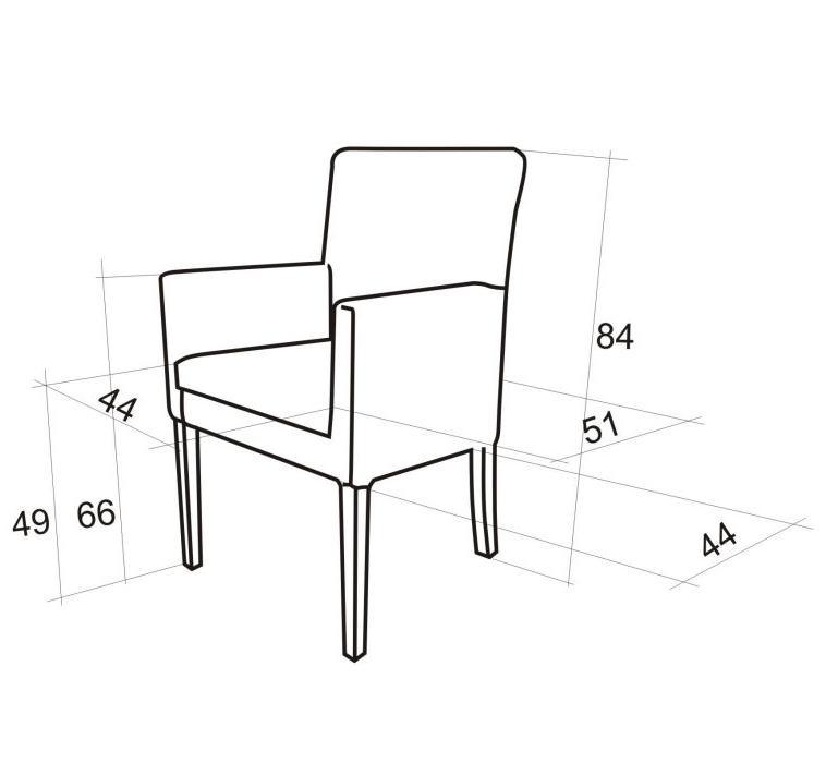 wymiary fotelika 84