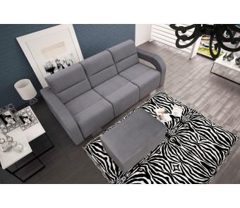sofa ALISS+ pufa - rozkładana + pojemnik z kolekcji Laba