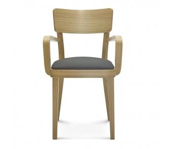 Krzesło SOLID B-9449 dąb twarde / tapicerowane z podłokietnikiem z kolekcji FAMEG