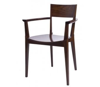 Krzesło FAME B-0620 twarde / tapicerowane z podłokietnikami z kolekcji FAMEG