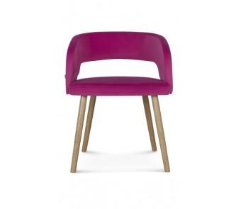 Krzesło CUBE B-1523 buk tapicerowane  z kolekcji FAMEG
