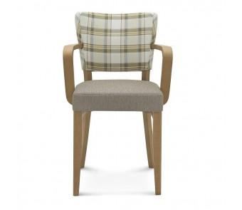 Krzesło TULIP.1 B-9608 tapicerowane z podłokietnikami z kolekcji FAMEG
