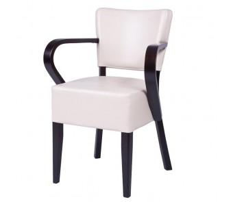 Krzesło TULIP.2 B-9608/1 tapicerowane z podłokietnikami z kolekcji FAMEG