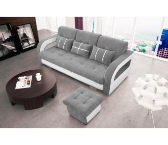 sofa NINA + PUFA - rozkładana + pojemnik z kolekcji Laba