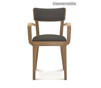 Krzesło SOLID B-9449/1 buk  tapicerowane z podłokietnikiem z kolekcji FAMEG