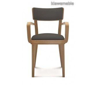 Fameg SOLID Krzesło B-9449/1 dąb tapicerowane z podłokietnikiem z kolekcji FAMEG