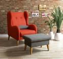 Fotel LAHTI + podnóżek z kolekcji Sułtan