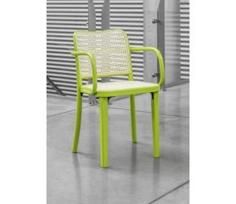 Krzesło B-811 tapicerowane z podłokietnikami z kolekcji FAMEG