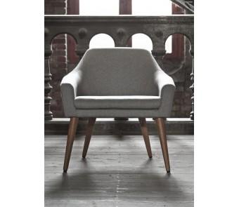 Krzesło SHELL B-1234 dąb tapicerowane z podłokietnikami z kolekcji FAMEG