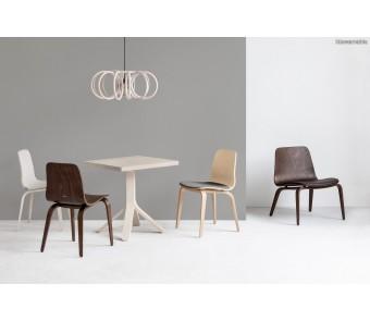 Krzesło A-1802 hips Dąb twarde/tapicerowane siedzisko z kolekcji FAMEG