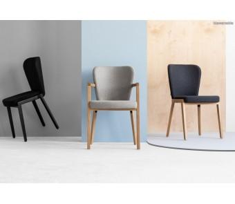Krzesło B-1807 lava tapicerowane z podłokietnikami kolekcji FAMEG