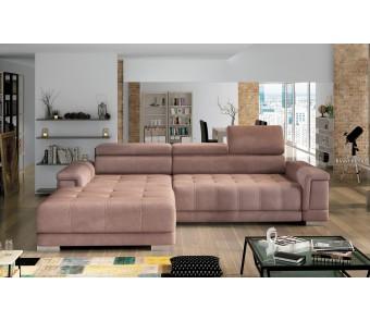 narożnik CAMPO MINI  F. relax + elektrycznie wysuwane siedzisko z kolekcji EXCLUSIVE
