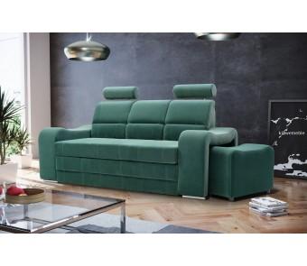 sofa WENUS 3 + pufy - rozkładana + pojemnik z kolekcji Laba
