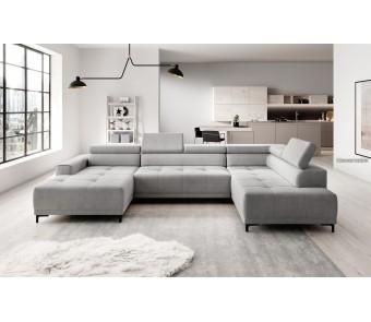 narożnik HUGO XL relax + elektrycznie wysuwane siedzisko z kolekcji EXCLUSIVE