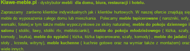 Sklep z meblami w Lesznie Klawe-meble.pl