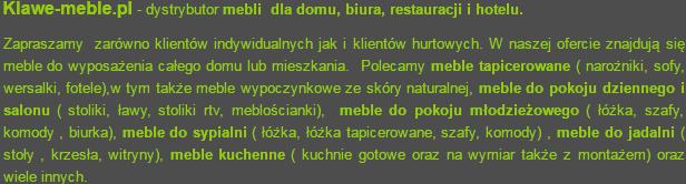 Sklep z meblami w Lesznie Klawe-meble.pl